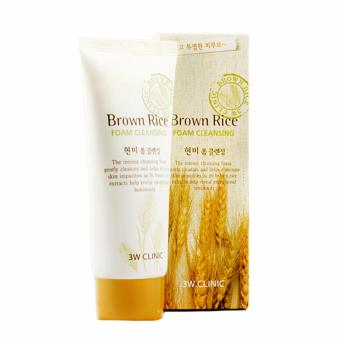 Sữa rửa mặt gạo 3W Clinic Brown Rice Foam Cleansing 100ml