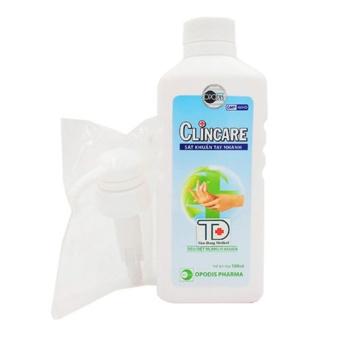 Dung dịch rửa tay khô sát khuẩn nhanh Clincare 500ml