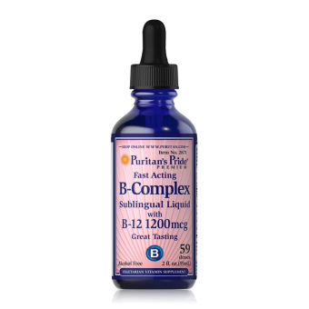 Thức uống hỗ trợ hệ thần kinh bổ sung Vitamin nhóm B Puritan's Pride B-Complex Sublingual Liquid 59ml