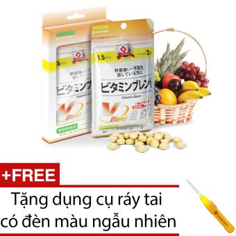Viên Uống Bổ Sung Vitamin Tổng Hợp 30 viên + Tặng dụng cụ lấy ráy tai có đèn led màu ngẫu nhiên
