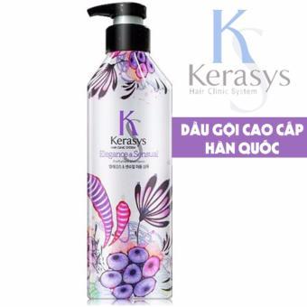 Dầu gội nước hoa cung cấp dưỡng chất cho tóc bóng mượt KeraSys Elegance & sesual Hàn Quốc 600ml - Hàng Chính Hãng
