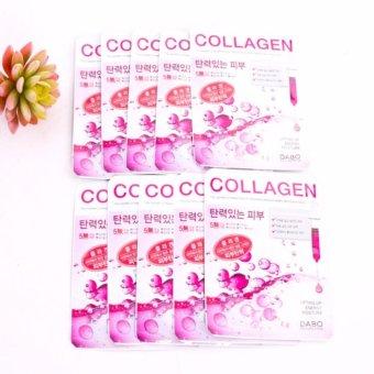 Bộ 10 miếng mặt nạ Collagen Tái tạo và phục hồi da chống lão hóa Cao cấp Hàn Quốc 23ml - Hàng Chính Hãng