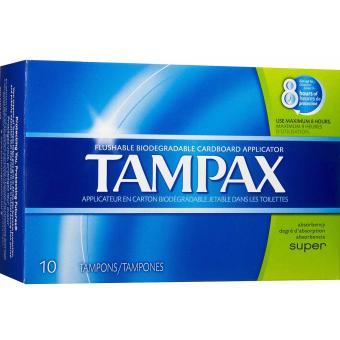 Băng vệ sinh Tampon Tampax 10 miếng SUPER