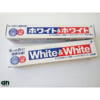 Set 2 tuýp kem đánh răng White And White Lion nội địa Nhật Bản 150g