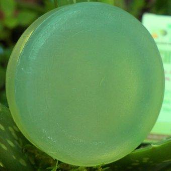 Xà phòng dầu dừa nha đam trắng da, trị mụn, dưỡng ẩm da