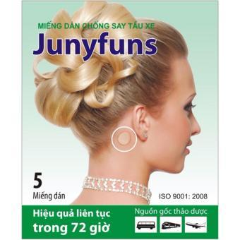 Bộ 5 miếng dán thảo dược chống say tàu xe Junyfuns