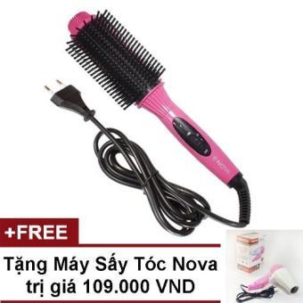 Lược điện 3 trong 1 Nova NHC8810 + tặng máy sấy tóc (Hồng)