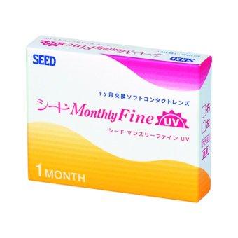 Hộp 3 kính áp tròng 1 tháng SEED Monthly Fine UV