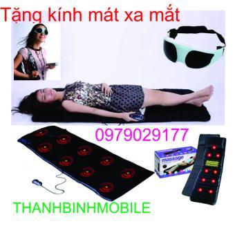 Nệm Massage Mát Xa Toàn Thân (Đen) + kính mát xa mắt