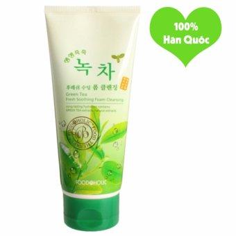 Sữa Rửa Mặt Làm Mềm Dịu Làn Da Foodaholic Green Tea Foam Cleansing Hàn Quốc 180ml - Hàng Chính Hãng