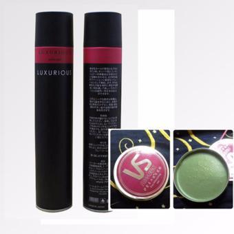 Bộ gôm xịt tóc tạo kiểu Luxurious vs sáp vuốt tóc