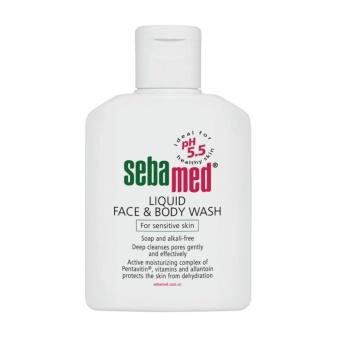 Sữa rửa mặt và body cho da nhạy cảm Sebamed Liquid Face & Body Wash SSS01D 50ml