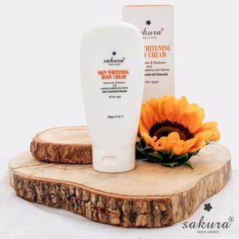 Kem dưỡng trắng da toàn thân Sakura Skin Whitening L-glutathione Body Cream 200g ( Cam)