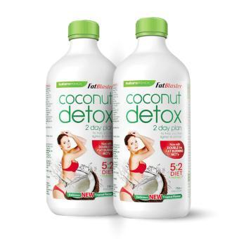 Bộ 2 Chai Thức Uống Giảm Cân, Thanh Lọc Cơ Thể Vị Dừa Naturopathica Fatblaster Coconut Detox 750ml