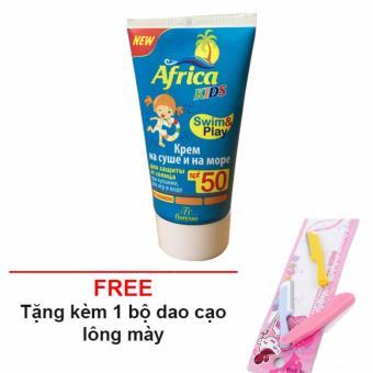 Kem chống nắng cho trẻ africa SPF 50 + Tặng bộ dao cạo chân mày