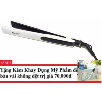 Máy làm thẳng tóc Sokany HS-025 + Tặng kèm khay đựng mỹ phẩm để bàn