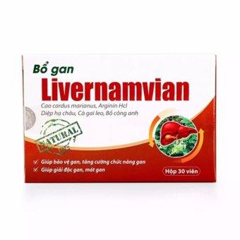 Bộ 10 hộp bổ gan livernamvian 30V cho lá gan khỏe