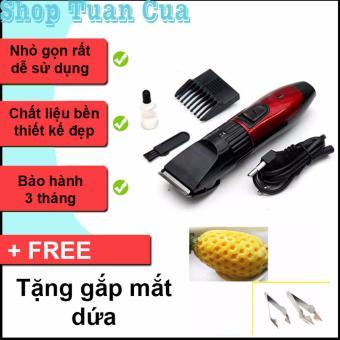 Tông đơ cắt tóc trẻ em (Đỏ pha đen ) + Tặng dụng cụ gắp mắt dứa
