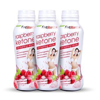 Bộ 3 Chai Nước Uống Giảm Mỡ Thừa Naturopathica Fatblaster Raspberry Ketone Fat Shots 375ml