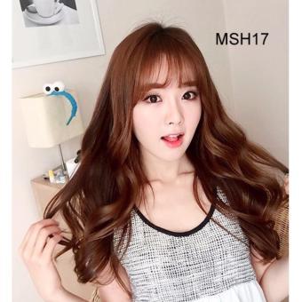 Bộ tóc xoăn nhẹ Hàn Quốc (đen) TG-05