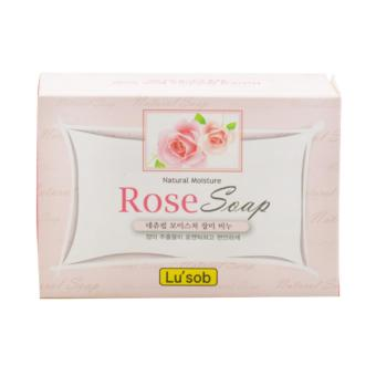 Xà phòng tắm chiết xuất từ hoa hồng giúp da mịn màng trắng sáng Rose Soap Lu'Sob Hàn Quốc 100g - Hàng Chính Hãng