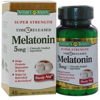 Viên uống hỗ trợ điều hòa giấc ngủ NATURE'S BOUNTY Super Strength Melatonin 60 viên