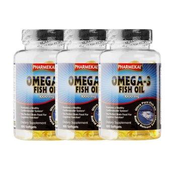 Bộ 3 hộp viên dầu cá Pharmekal Omega-3 1000mg 100 viên