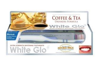 Kem đánh răng dành cho người uống trà cà phê White Glo Coffee & Tea Drinkers Fomula 150g kèm bàn chải White Glo