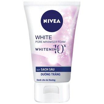 Sữa rửa mặt dưỡng trắng và sạch sâu NIVEA White Pore Minimiser Foam 100g