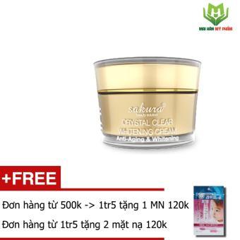 Kem dưỡng trắng da chống lão hóa Anti-Aging Whitening Sakura 30g + 1 mặt nạ dưỡng da White Label