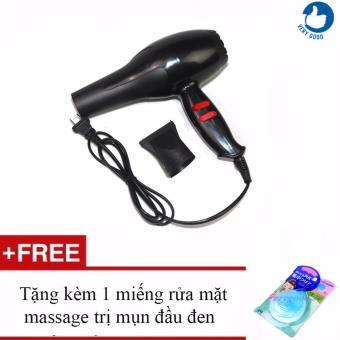 Máy sấy tóc 2 chiều công suất 1600W model 382 + Tặng kèm 1 miếng massage rửa mặt trị mụn đầu đen