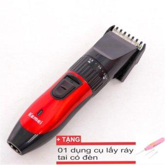 Tông đơ Kemei cắt tóc hớt tóc cho trẻ + tặng dụng cụ lấy ráy tai