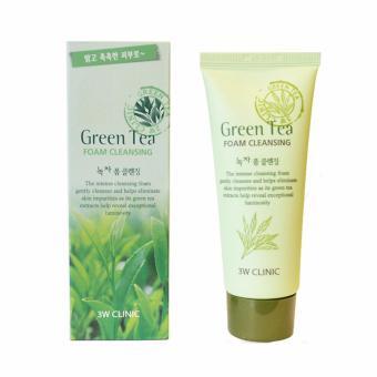 Mua Sữa rửa mặt trà xanh Green Tea Foam Cleansing 3W Clinic 100ml giá tốt nhất