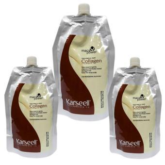 Bộ 3 gói dầu hấp tóc Collagen Karseell Maca siêu mềm mượt tóc