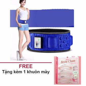 Đai rung massage tan mỡ X5 (màu xanh) + Tặng 1 bộ khuôn mày