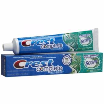 Kem đánh răng trắng răng Crest Complete Extra Whitening Scope 232gr Mỹ