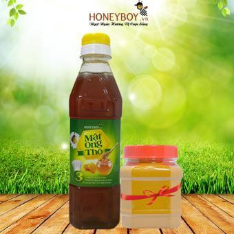 Mật ong Thô Honeyboy 400ml Tặng kèm 1 hũ bột nghệ vàng 100g