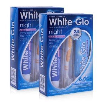 Bộ 2 bộ kem đánh răng ngày đêm White Glo Day & Night Toothpaste
