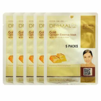 Bộ 5 x Mặt nạ dưỡng da khoáng chất vàng Dermal Gold Collagen Essence Mask 23g