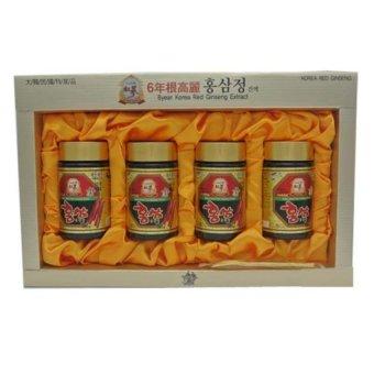 Bộ 4 lọ Cao Hồng Sâm 6 năm tuổi Korean Red Gingsen 250g x 4