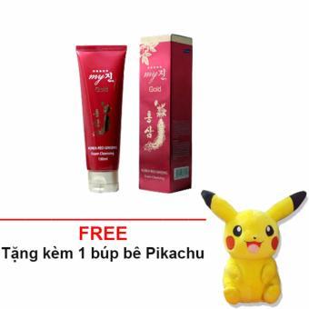 Sữa rửa mặt Hồng Sâm 130ml My Gold + Tặng 1 gấu bông Pikachu so cute