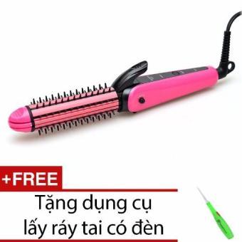 Máy là tóc dập xù lược điện 8890 + Tặng dụng cụ lấy ráy tai có đèn