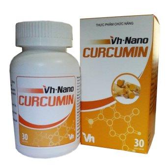Viên uống hỗ trợ điều trị viêm loét dạ dày Vh nano curcumin