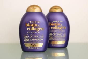DẦU GỘI và DẦU XẢ OGX Thick and Full Biotin and Collagen