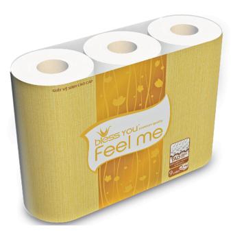 Lốc giấy vệ sinh Bless You Feel me 9 (9 cuộn)