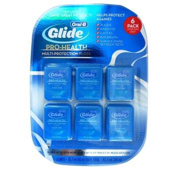 Vỉ 6 hộp chỉ nha khoa Oral-B Glide Pro-Health 40m (Xanh)
