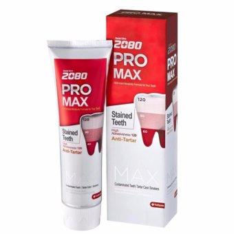 Kem đánh răng giảm ê buốt và mòn răng 2080 Pro Max Sensitive Hàn Quốc 125g - Hàng Chính Hãng