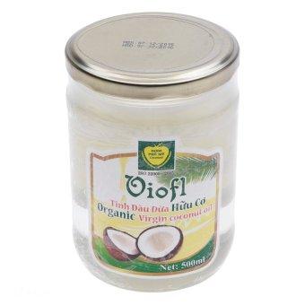 Tinh dầu dừa hữu cơ ép lạnh VIOFL (lọ 500ml)