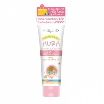 Kem chống nắng ánh nhũ Cathy Doll Suntection Aura Crystal Sun Cream SPF45 PA+++ 140g