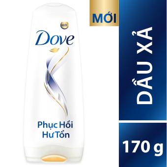 Bộ Dove phục hồi hư tổn dầu gội 650g + Kem xả 170g + Kem ủ 200ml + Tặng bộ dụng cụ nhà tắm 2 món